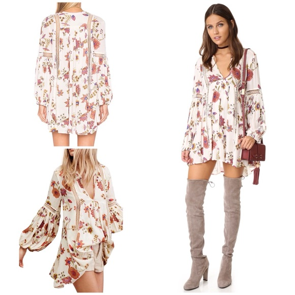 2d2e54761d9 Free People Tops   Nwt Just The Two Of Us Floral Tunic L   Poshmark